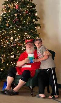 Nick The Travel Kid and Santa.