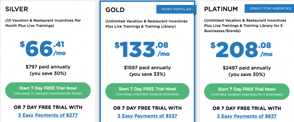 Marketing Boost Pricing